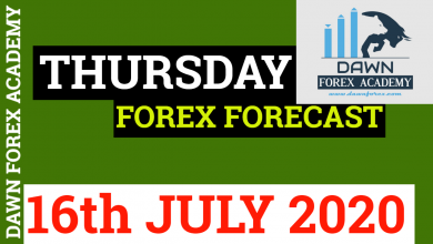 Photo of THURSDAY FOREX FORECAST FOR 16th JULY 2020| DAWN FOREX ACADEMY